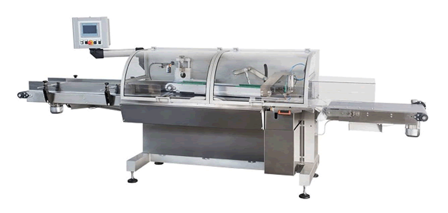 Automatic bagging machine with closing mechanism